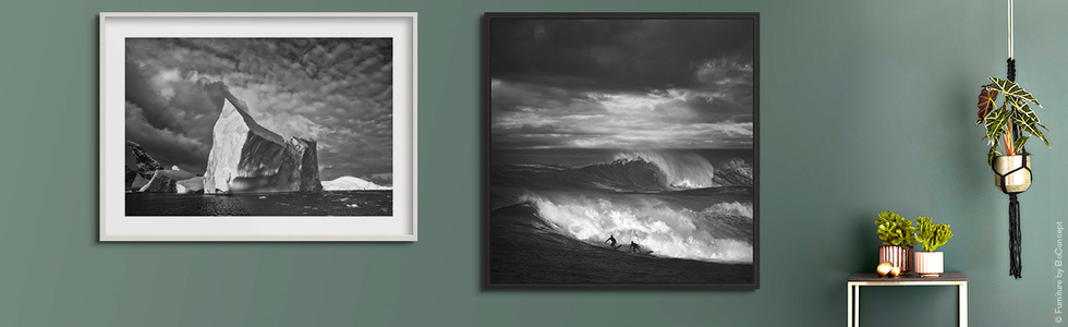Anuar Patjane: Portal (l.), Ed Freeman: North Shore Surfing #16 (r.)
